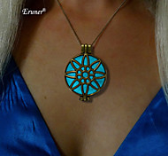 Eruner® Low In The Dark Pendant Necklace Round Hollow Glowing Jewelry 2015 Product