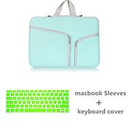 vendita superiore sacchetto della chiusura lampo di colore solido di tela con la copertura della tastiera per macbook retina 15,4 (colori