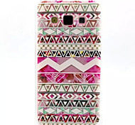 Pink Tribal Symbols Pattern TPU Soft Back Cover for Samsung Galaxy A3