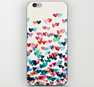 Colorful Heart Connect Pattern Back Case for iPhone 5/5S