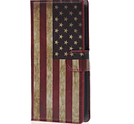 For LG Case Pattern Case Full Body Case Flag Hard PU Leather LG