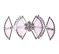 Bow Alloy/Net Hair Combs With Rhinestone Wedding/Party Headpiece