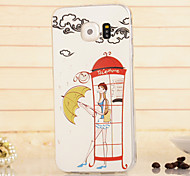 Magic Spider®Telephone Booth TPU High Quality Soft Back Case Cover with Screen Protector for Samsung Galaxy S6