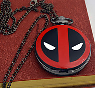 Men's Fashion Deadpool Pocket Watch Marvel Cartoon Students Kids YOUNG Chain Watch