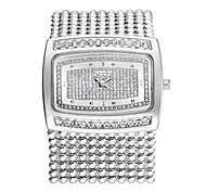 Fashion Luxury Crystal Rhinestone Brass Chain Band Womens Ladies Wrist Quartz Bracelet Dressed Bangle Watch