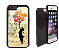 The Girl Design 2 in 1 Hybrid Armor Full-Body Dual Layer Shock-Protector Slim Case for iPhone 6