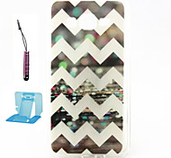 Waves  Pattern TPU Case Soft Cell Phone Cases  for Samsung Galaxy Alpha/G5308