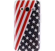 el caso suave de la bandera americana de diseño TPU para Samsung Galaxy Ace 4 g313h