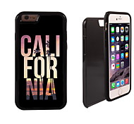 Cool California Design 2 in 1 Hybrid Armor Full-Body Dual Layer Shock-Protector Slim Case for iPhone 6