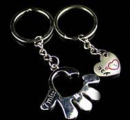 Alloy Heart Hand Key Chain