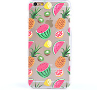 Fruit Pattern Transparent Scrub the Rear Case TPU Frame Combo Material Phone Case for iPhone 6