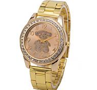 cadran rond cas montre d'alliage de montre à quartz marque de mode des femmes