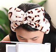 bowknot grande lavar o rosto com a toalha cabeça máscara penteado maquiagem (cor aleatória)