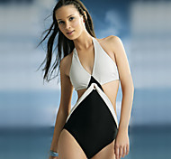 Black and White Sexy Swimsuit With a Chest Pad Whitout Steel Ring