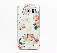 Pink peony Pattern PC Hard Case for Samsung Galaxy S6
