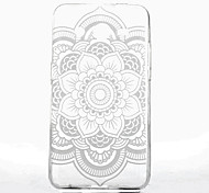 White Mandala Flower Pattern Ultrathin TPU Soft Back Cover Case for Samsung GALAXY CORE Prime G360