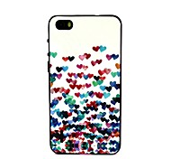2-in-1 Many Colorful Heart Pattern TPU Back Cover with PC Bumper Shockproof Soft Case for Huawei Honor 6