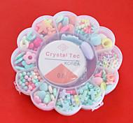Acrylperlen sortiert Farbe und Form in Blumen Kunststoffbox scherzt Spielzeuggeschenk diy Perlen passen Halskette Armband Schmuck