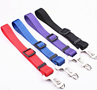 Fashionable Pure Color Nylon Car Safety Belt for Dogs (Assorted Colors)