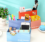 Creative DIY Cartoon Paper Desktop Storage Boxes Organizer Boxes