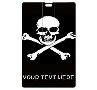 Personalized USB Flash Drive Cross Skull Design 64GB Card USB Flash Drive