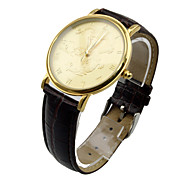 Man's Military Watch Genuine Leather Hours Steel Case Dragon Pattern 30 Meter Water Resistant Stop Fashion Sports Gift