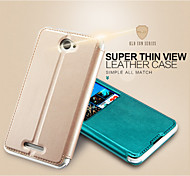 KALAIDENG Sun Series Super Thin View Leather Case for Sony Xperia E4