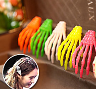 Zombie Skull Skeleton Hand Bone Claw Hairpins Hair Clips (Random Color)