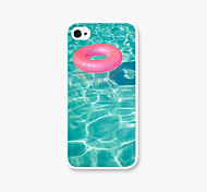 Swimming Laps Pattern PC Phone Case Back Cover Case for Apple iPhone5/5s