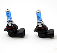 TIROL 2pcs Auto Headlight Bulbs Headlamp Bulbs Halogen 9006 12V 55W Super White 5000K