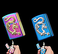 Colorful Chinese Dragon Relievo Kerosene Lighter (Assorted Colors)