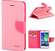 Magic Spider®Pink Open PU Leather Wallet Case Cover Stand with Screen Protector for Samsung Galaxy A3
