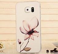 Magic Spider®Transparent Flower TPU High Quality Soft Back Case Cover with Screen Protector for Samsung Galaxy S6