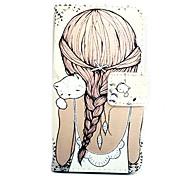 patrón de pelo largo tarjeta de cuero pintado para D405 l90 lg