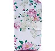 rosa patrón de la caja de cuero de la PU con el soporte para Samsung Galaxy Ace 4 g313h