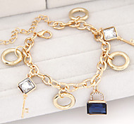 Fashion Metal Fashion Wild Key Lock Bracelet