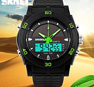 skmei® мужские спортивные часы солнечные электростанции аналого-цифровой календарь / хронограф / Dual Time зоны тревоги / черный