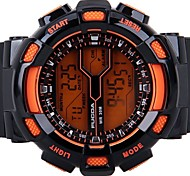 Men's Silicone Strap Digital Sport Watches Chronograph/Alarm/Calendar/Backlight/Waterproof Orange