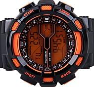 bracelet en silicone sport numérique des hommes montres chronographes / alarme / calendrier / rétro-éclairage / orange étanche