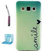 China Green Pattern TPU  Soft Case for Samsung Galaxy A3