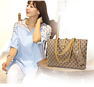 Women Other Leather Type Casual Tote White / Brown / Red / Silver / Black
