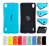 iFace mall Candy Color Shock-Absorbing Dual Soft TPU Cover Case for HUAWEI P7 (Assorted Color)