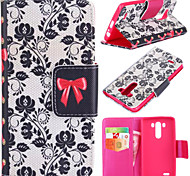 Rattan Flower Pattern with Card Bag Full Body Case for LG G3
