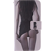 High Quality Fashion Design COCO FUN® Sexy Girl Pattern PU Leather Wallet Case Cover for Samsung Galaxy S6