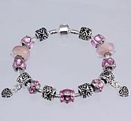 Crystal Drill Bead Hidden Silver Bracelet(DIY Bead Bracelet)(Pink/Blue/Purple/Black)(1Pc)