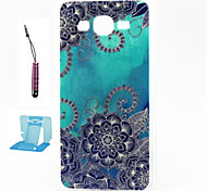 Blue Beautiful Pattern TPU Case Soft Cell Phone Cases  for Samsung Galaxy Alpha/G5308