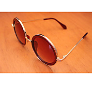 Sunglasses Unisex's Classic / Modern / Fashion Round Brown Sunglasses Full-Rim