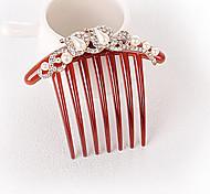 New Nashion Pearl Rhinestone Bride Seven Tooth Hair Comb