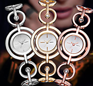 Luxury Rose Gold Silver Fashion Smart Women Lady Dressed Wrist Quartz Bracelet Bangle Watch Cool Watches Unique Watches