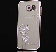 High-grade Diamond Plating Dandelion Phone Case for Samsung Galaxy S6 edge (Assorted Colors)
